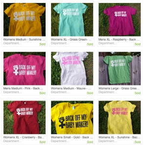 T-shirts for sale in Jessie Zenor's Etsy shop