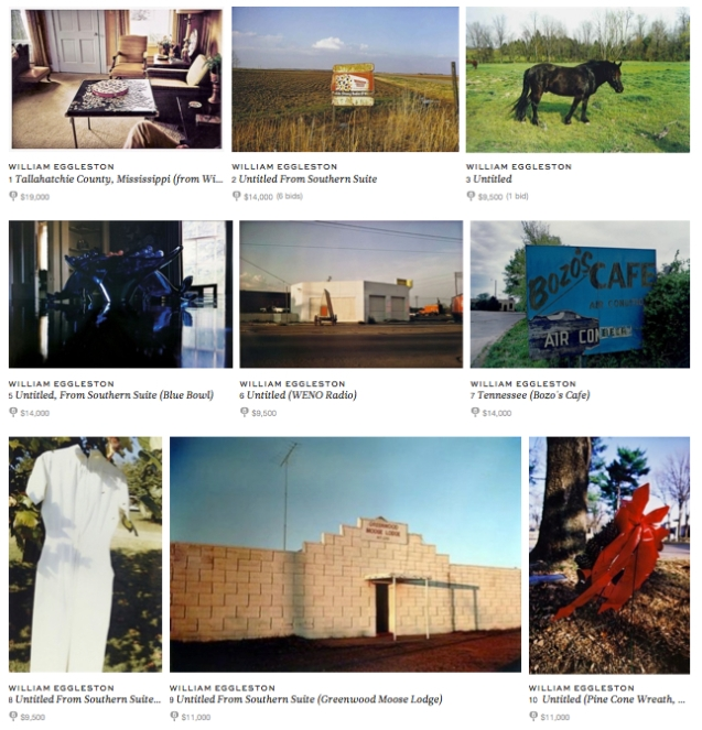 William Eggleston auction on Paddle 8